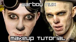 war boy nux mad max makeup tutorial raised scar sfx youtube