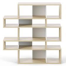 london oak white double modern bookcase eurway