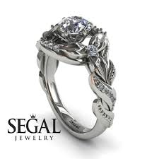 nature inspired engagement rings nature inspired engagement ring 14k white gold 1 carat cut