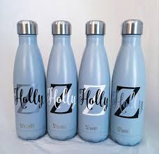 personalized swell bottle big initial and name u0027well