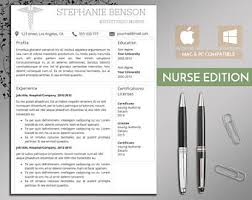nurse resume etsy