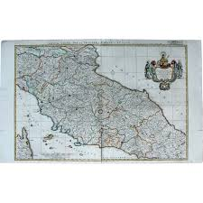 Italian Map Large Original Antique Map Of Italy Tuscany Elba Rome By