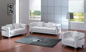 Simple Leather Sofa Set Contemporary White Leather Sofas 10516