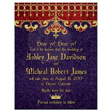 save the date wedding purple gold royal wedding save the date