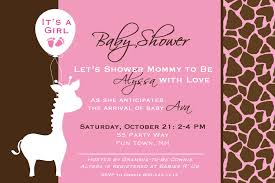 design giraffe baby shower invitations