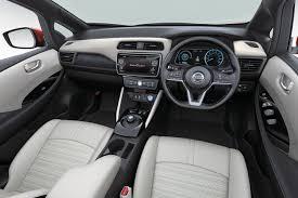 nissan leaf 2017 interior 2018 nissan leaf revealed 400km range as standard