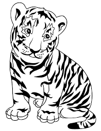 snow tiger coloring page cute tiger coloring pages getcoloringpages com