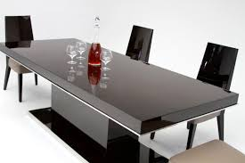 Modern Black And White Dining Table Modrest Noble Modern Lacquer Dining Table