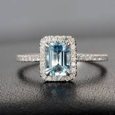 Aquamarine Wedding Rings by Aquamarine Engagement Rings March Birthstone Jewelry Logr