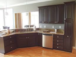 Restaining Kitchen Cabinets Without Stripping Wonderful Option To Refinish Kitchen Cabinets Without Paint Home