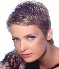womans short hairstyle for thick brown hair not quite this short but very similar great exle of short