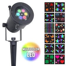 multi color led landscape lighting multicolor led 12 pattern motion projection light night stars