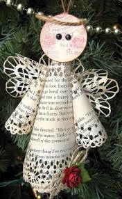 Diy Paper Christmas Decorations Book Page Christmas Ornaments 22 Upcycled Ideas