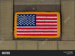 Army Uniform Flag Patch Rounded American Flag Patch On U S Image U0026 Photo Bigstock
