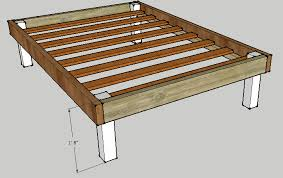Woodworking Plans For Twin Storage Bed by Simple Queen Bed Frame By Luckysawdust Lumberjocks Com