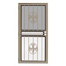 tan security doors exterior doors the home depot