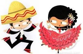 cartoon cinco de mayo cinco de mayo dance cartoon cute cartoon dancing couple in