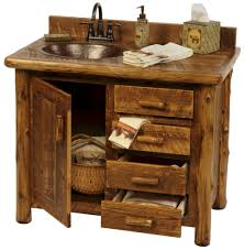 rustic vanity for bathroom with custom made design rustic