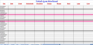 gym schedule template schedule template free