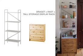 ikea draget draget rast tall storage display unit ikea hackers