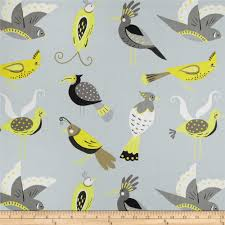 Lightweight Fabric For Curtains Waverly For The Birds Twill Lemon From Fabricdotcom Screen