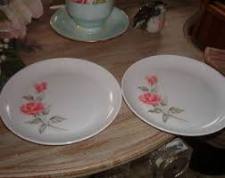 Shabby Chic Plates by Rose Melmac Etsy