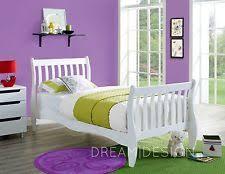 White Single Sleigh Bed Sleigh Bed Frames Ebay
