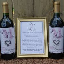 wine bottle guest book 4 customized wine bottle labels from tipsydesigns on etsy