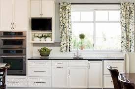 Brushed Nickel Backsplash by Transitional Kitchen With White Herringbone Backsplash Tiles
