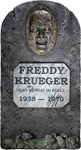 tombstone decorations nightmare on elm freddy krueger headstone party