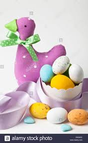 sugar easter eggs duck with sugar easter eggs stock photo royalty free image