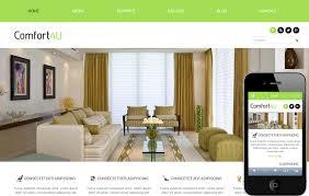 Home Design Templates Free Interior Furniture Designs Mobile Website Templates