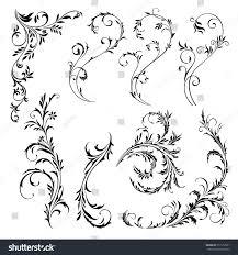 corner ornamental frames elements individual stock vector
