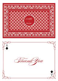 Card Invitations Las Vegas Wedding Invitations Thank You Card Elegant Playing
