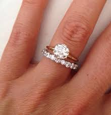 solitaire engagement ring with wedding band wedding bands and engagement rings wedding corners