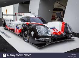 porsche 919 hybrid lmp1 le mans race winner on display at the 2017