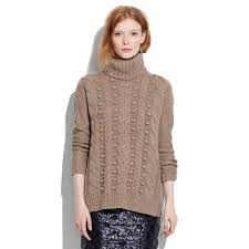 turtle neck sweaters lyst madewell turtleneck sweater in brown