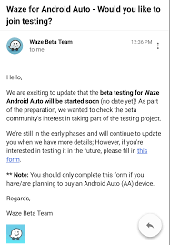 invites are going out to the waze beta community to begin testing