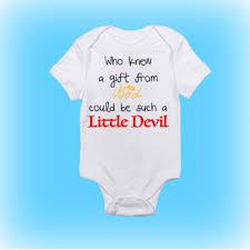 little devil baby onesie unique baby shower gift shower