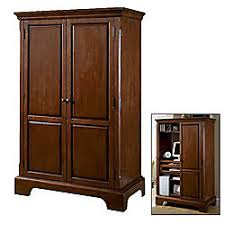 Computer Armoire Office Depot Cole Office Corvallis Computer Armoire 67 H X 43 W X 23 D Cordovan