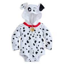 Dalmation Halloween Costume Disney Store 101 Dalmations Puppy Costume Bodysuit Hooded Size 12