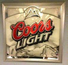 coors light bar sign coors light beer mirror sign pub bar man cave 24 x 24 mountains