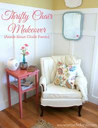 thrifty french chair makeover annie sloan chalk paint artsy