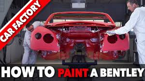 bentley custom paint bentley paint shop how to paint a luxury car how it u0027s made