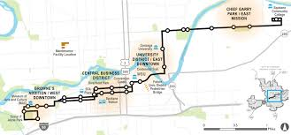 Map Of Spokane Central City Line High Performance Transit Sta Moving Forward