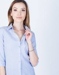 periwinkle blouse striped button up blouse lightweight blouse striped blouse