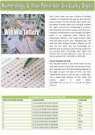 Numerology Colors by Numerology U0026 Your Powerball Six Lucky Digits Lottery Post