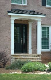 Front Porches On Colonial Homes by Simple Gable Portico On Salt Box House Designed And Built By