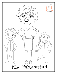 babysitter coloring pages sing a story