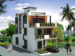 3 story house exterior elevation design in 3d for 3 story house gharexpert